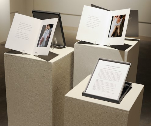 Exhibition View of 'On Photographing Breasts' by Julia Bradshaw at ArtSpace Gallery, Fresno